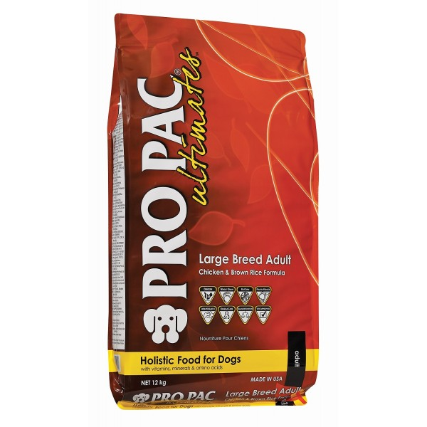 PRO PAC Ultimates Large Breed Adult with Chicken Meal & Brown Rice (для собак крупных и гигантских пород) - 12,0kg